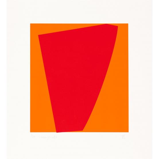 i orange - röd