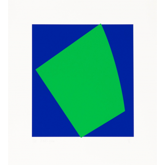 i blå - grön