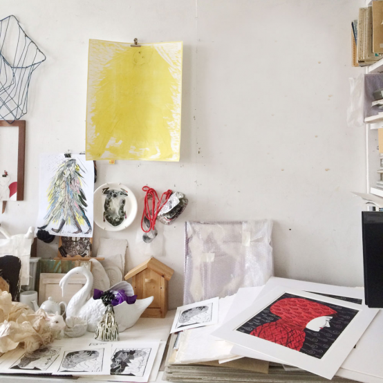 In Ulla Wennberg's studio