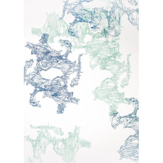 Composition Blue-Green L no 2