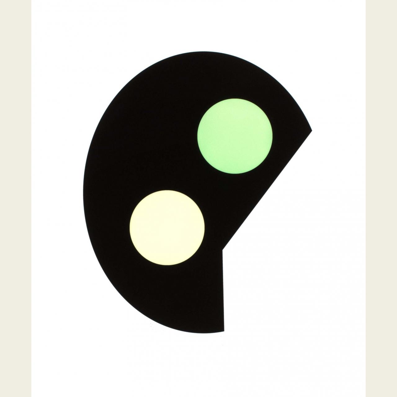 i - kring grön
