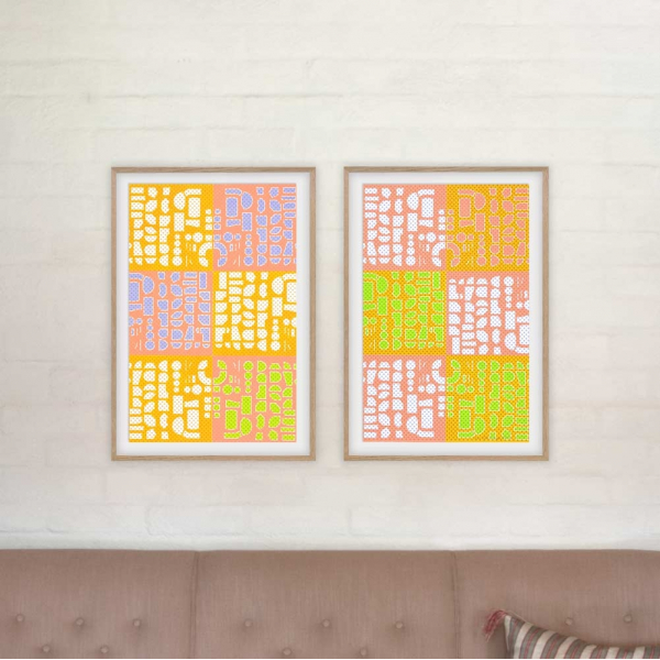 Thinking and Dreaming 1 - diptych