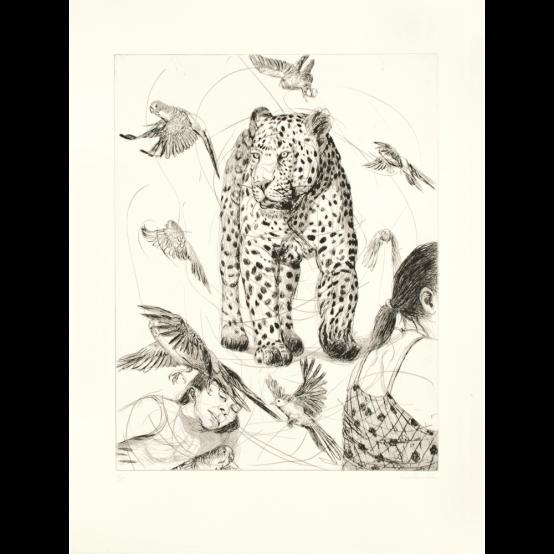 Leoparden på stranden