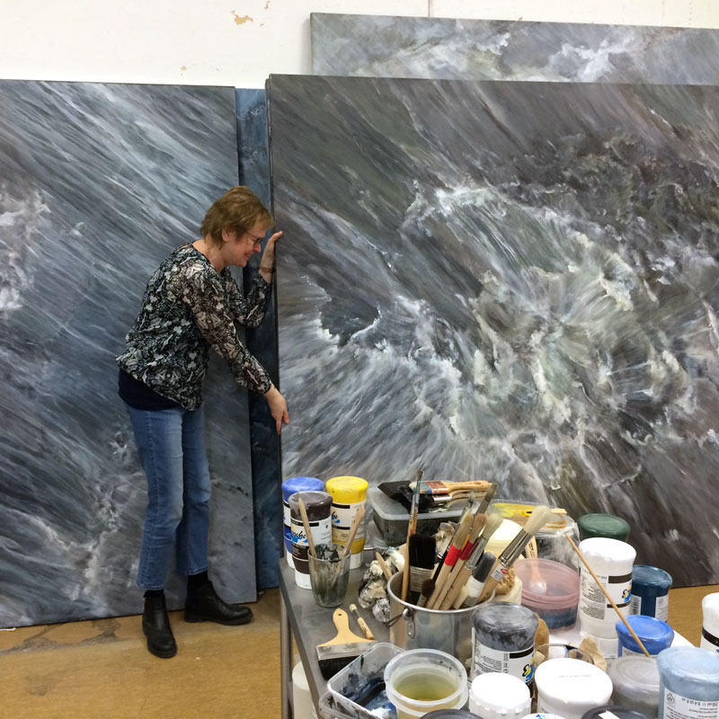 Ann Frössén in her studio