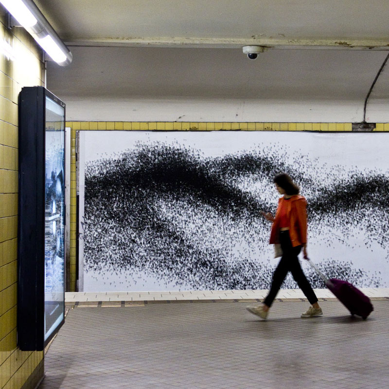 The artwork of Eva Beierheimer at the subway station Fridhemsplan in Stockholm