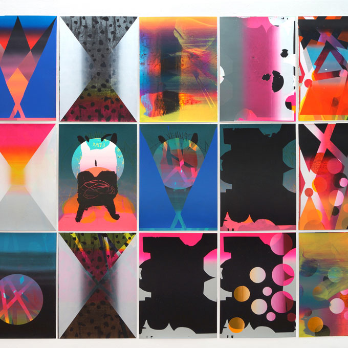 Installation view, WOP - Untitled, screen on paper